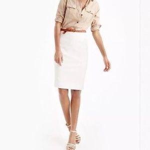 J Crew 4 Cotton Twill No. 2 Pencil Skirt Ivory
